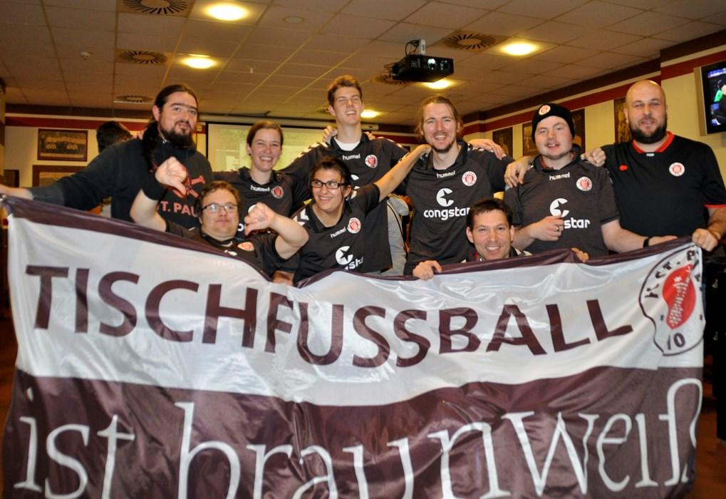 FC St. Pauli Tischfußball Inklusionsteam