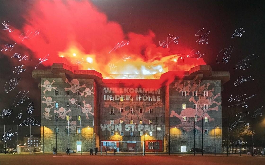 """Ein viertes und letztes Mal zugunsten des FCSP-Museums unter dem Hammer: der """"brennende Bunker"""""""