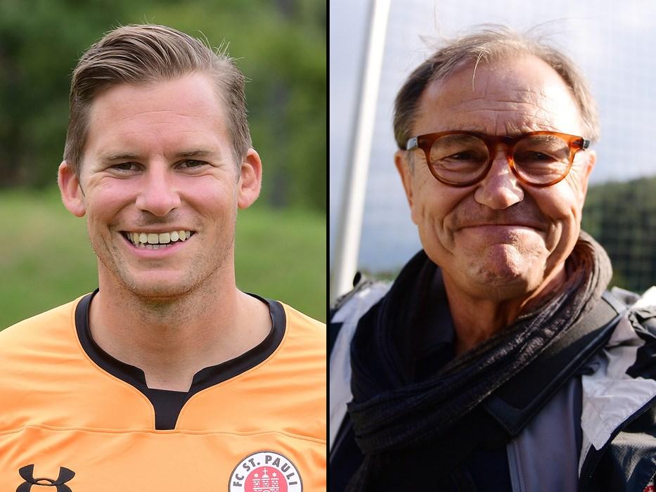 Philipp Heerwagen (li.) und Ewald Lienen (re.) gehören dem sechsköpfigen Kiezhelden-Spendenbeirat an.
