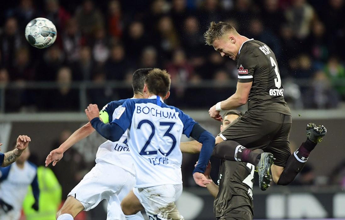 Gegen Bochum verpasste Leo Østigård nur knapp sein erstes Tor für unseren FCSP.